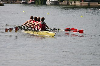 Marlow Rowing Club - Marlow Rowing Club Quad showing blade and kit colour