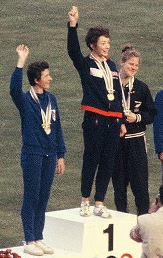 Didcot Girls' School - Ann Packer winning the 1964 Olympics 800 metres gold