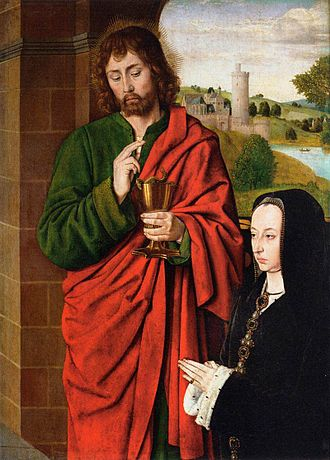 Anne of France - Depiction of Anne and St. John the Evangelist