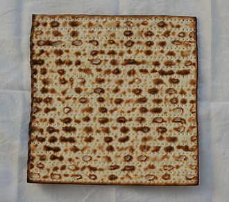 Unleavened bread - Jewish matza eaten on Passover