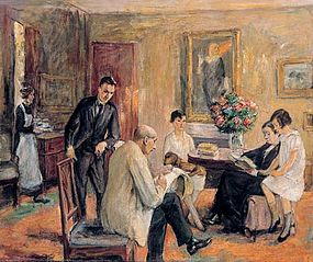 The Liebermann Family (The artist is sketching in the circle of his family)
