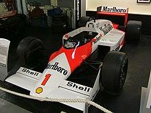 La McLaren che Prost utilizzò nel 1987.