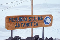 McMurdo Station Antarctica Station Sign