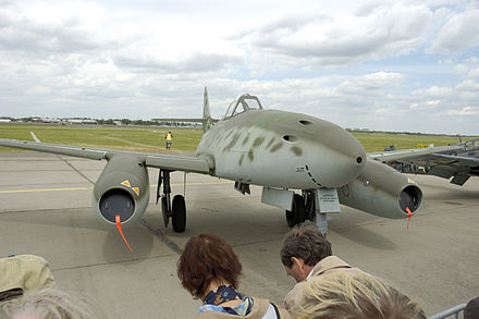 Reproduction of a Messerschmitt Me 262 (A-1c) at the Berlin Air Show 2006 Me262ila2006.JPG