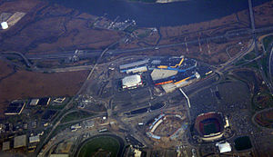 Meadowlands Sports Complex - A view of the complex from the air in 2008