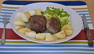 Rissole - Meat rissoles with potatoes