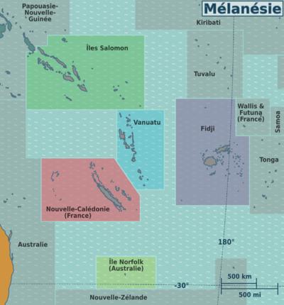 Carte Australie Et Iles Fidji.Melanesie Wikivoyage Le Guide De Voyage Et De Tourisme