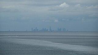Port Phillip bay in Victoria, Australia