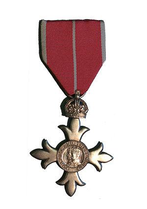 Nicolas Bodington - MBE - Member of the Order of the British Empire (silver colour).