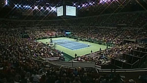 Veterans Memorial Coliseum (Portland, Oregon) - The interior during the Davis Cup in 2007