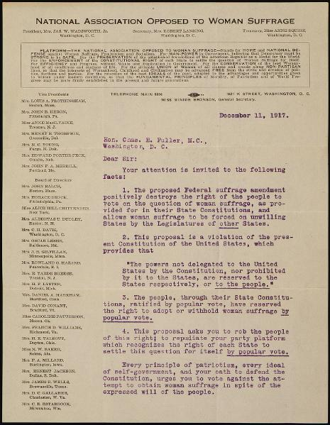 File:Memorial from Alice Wadsworth of the National Association Opposed to Woman Suffrage.djvu