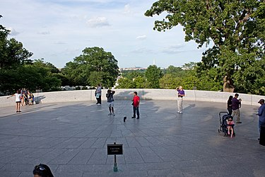 Memorial leading to grave of John F. Kennedy in Arlington National Cemetery.jpg