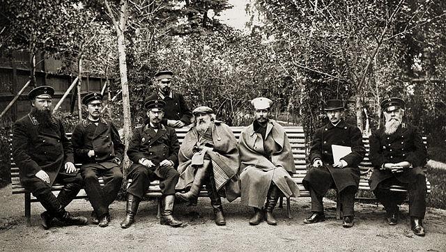 Д.И.Менделеев и П.А.Замятченский на Кушвинском металлургическом заводе. 1899