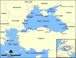 Carte de la mer Noire.