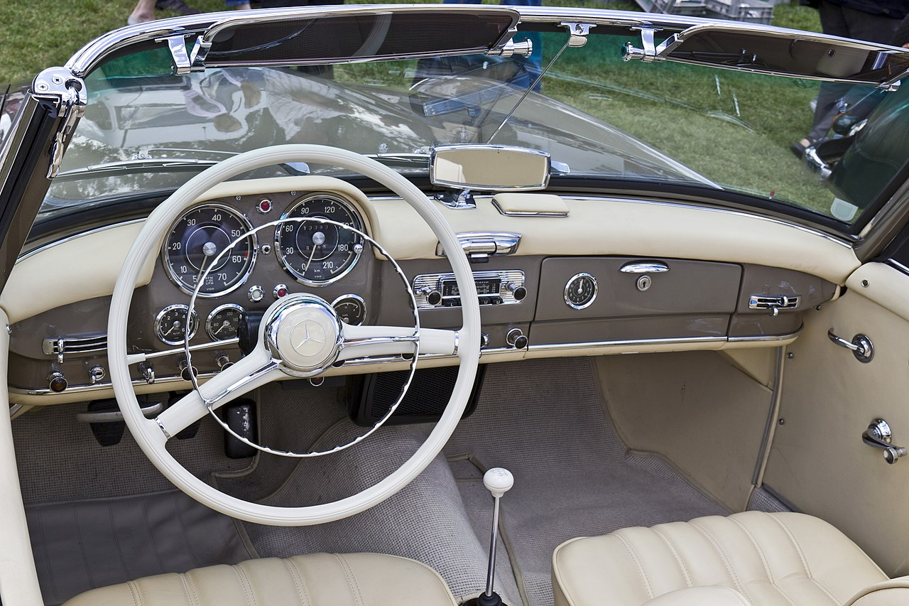 File mercedes benz 190sl roadster inside for Inside mercedes benz