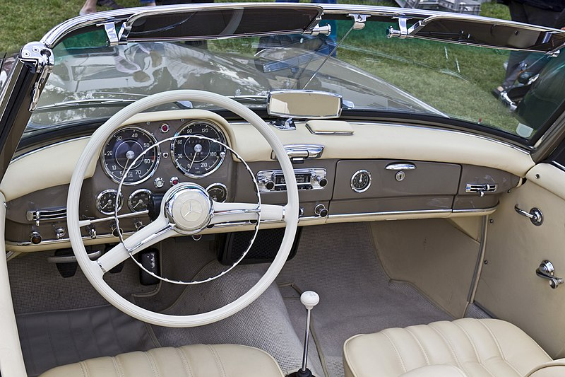 File:Mercedes Benz 190SL Roadster inside 20110611.jpg