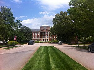 Meredith College - Main entrance and building of Meredith College