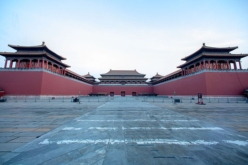 File:Meridian Gate (Forbidden City) 2015 December (morning).jpg