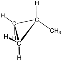 Methylcyclopropane (molecular diagram).png