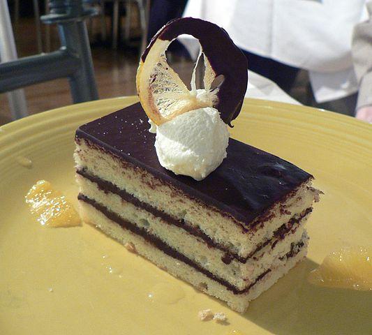 meyer lemon chiffon cake, lavender honey poached lemons, whipped cream ...