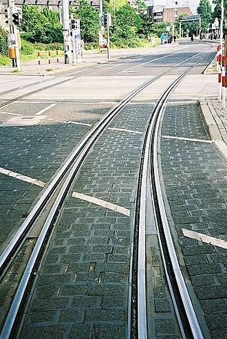 Tramway track - Image: Mh gleisverschlingung