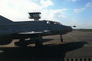 MiG-21US Stendal-Borstel airport.jpg
