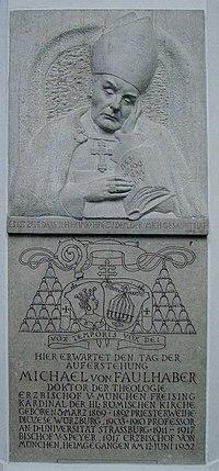 Michael von Faulhaber Memorial in Frauenkirche München.jpg