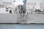 Midship of USS Curtis Wilbur (DDG-54) left front view at U.S. Fleet Activities Yokosuka April 30, 2018.jpg