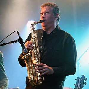 Mike Stevens (saxophonist) - Stevens performing with 10cc in 2013