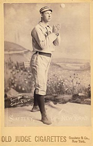 Mike Slattery (baseball) - Image: Mike Slattery 1888