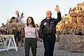 Mike and Karen Pence arrived at Erbil Air Base.jpg