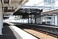 Mikuriya Sta from platform 1 east 200321.jpg