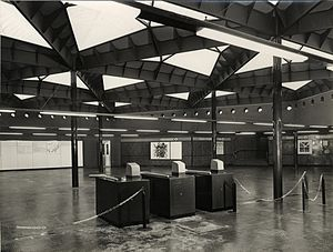 Milan Metro Line 1 - The mezzanine floor of the Amendola station just before opening in 1964.