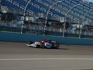 Milka Duno - Milka Duno testing at Homestead-Miami Speedway in 2008.