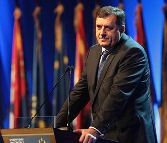 Republika Srpska - Milorad Dodik, the president of the Republika Srpska