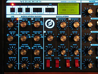 Minimoog Voyager - Image: Minimoog Voyager Rackmount Edition (left panel)