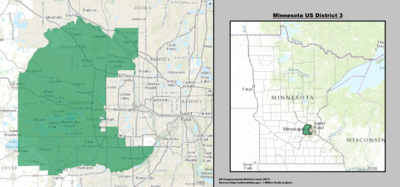 Minnesota's 3rd congressional district - since January 3, 2013.