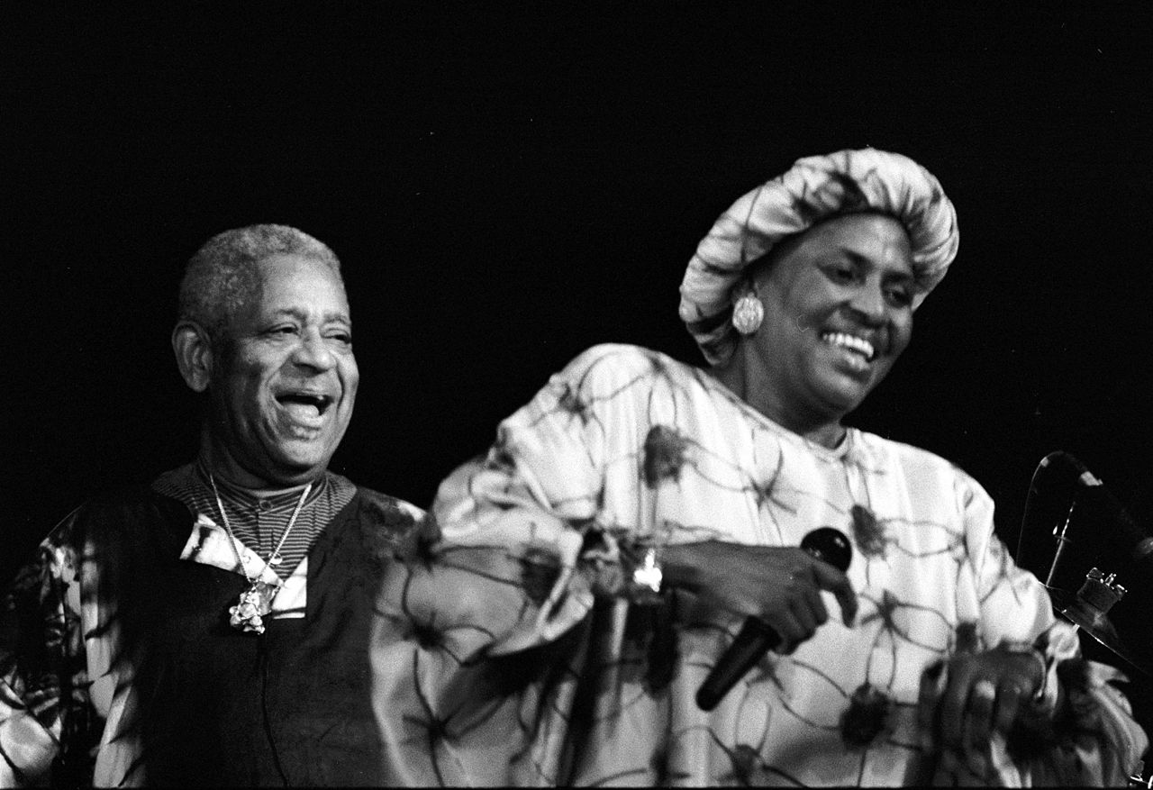 Miriam Makeba and Dizzy Gillespie in Calvados, France, 1991 (via Wikimedia Commons)
