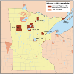 Member bands of the Minnesota Chippewa Tribe