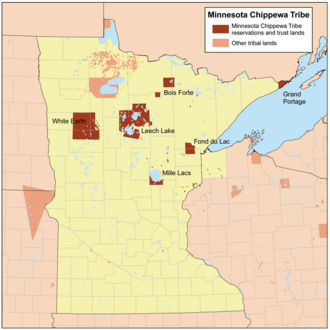 Leech Lake Indian Reservation - The reservations of the Minnesota Chippewa Tribe.