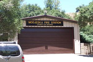 Modjeska Canyon, California - Modjeska Fire Station