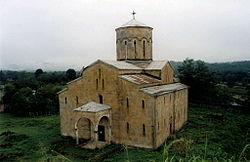 Orthodox cathedral in the village of Mokva
