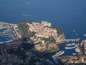 Rock of Monaco - View of the Rock from Tête de Chien