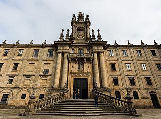 Monastery of San Martiño Pinario building in A Coruña Province, Spain