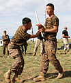 Mongolian service members compete during Non-Lethal Weapons Executive Seminar (NOLES) 13 at Five Hills Training Area, Mongolia, Aug. 19, 2013 130819-M-DR618-015.jpg