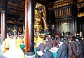 Monks inside the Daci'en Temple, Xi'an, China - panoramio.jpg