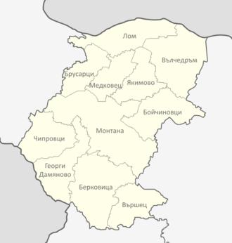 Montana Province - Municipalities in Montana province