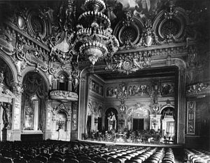 Le Spectre de la rose - Interior of the Monte Carlo Casino, 1879. The Casino theare later became the Opera House.