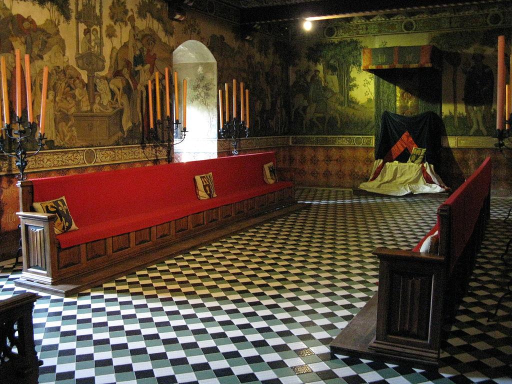 A l'intérieur du chateau fort du Borgo Medievale à Turin - Photo de Sonny-91