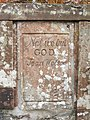 Moore's Bridge - an original stone, with inscription - geograph.org.uk - 1059001.jpg